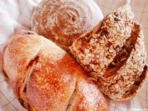 Spica麦の穂のパン3種